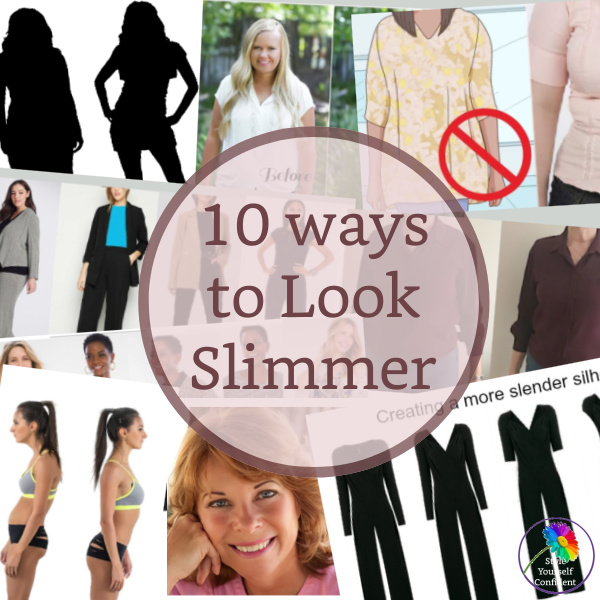 10 ways to look slimmer #lookslimmer #dresstolookslim https://www.style-yourself-confident.com/10-ways-to-look-slimmer.html