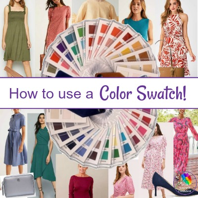 How to use a Color Swatch #colorswatch #fabriccolorswach #coloranalysisswatch https://www.style-yourself-confident.com/color-analysis.html