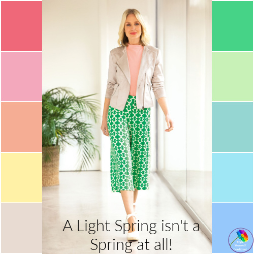Light Spring - you may be diluting your color palette #light spring #color analysis  https://www.style-yourself-confident.com/light-spring.html