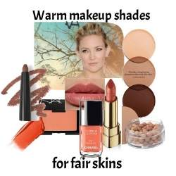 Gentle tones of Warm makeup to flatter a fair or softer skin tone