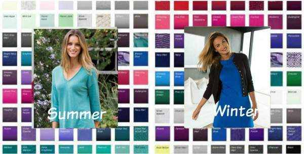 The Cool family includes most of the colors from both Summer and Winter #color analysis #Cool color family https://www.style-yourself-confident.com/color-analysis-cool.html