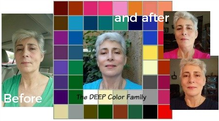 Color Analysis before and after - testimonials, reviews and photographs https://www.style-yourself-confident.com/before-and-after.html