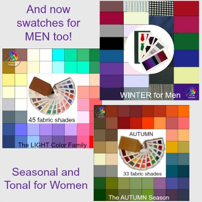 Color Analysis fabric swatch for MEN and WOMEN - Tonal and Seasonal #color analysis #fabric swatch https://www.style-yourself-confident.com/color-analysis-swatch.html