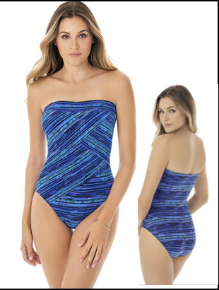 How to choose flattering swimwear #flatteringswimwear https://www.style-yourself-confident.com/flattering-swimwear.html