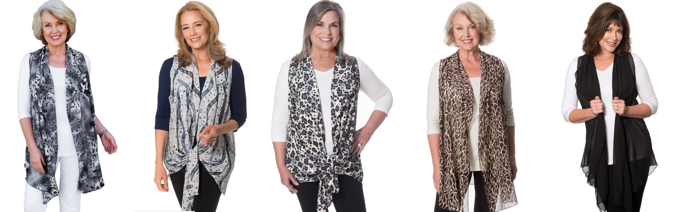 Clever cascading vests from Covered Perfectly cover midriff and tummy problems #hide tummy fat #Covered Perfectly  https://www.style-yourself-confident.com/hide-tummy-fat.html