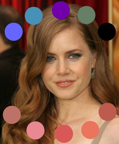 Warm makeup for a Warm complexion #warmmakeup #coloranalysis #lookfabulousforever #AmyAdams http://www.style-yourself-confident.com/warm-makeup.html