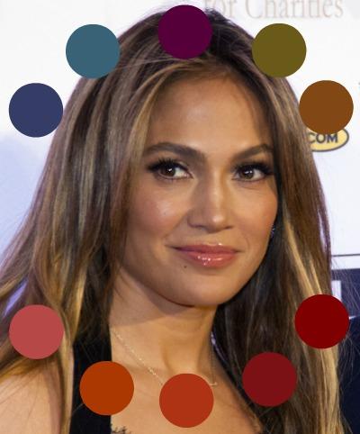 Warm makeup for a Warm complexion #warmmakeup #coloranalysis #lookfabulousforever #JenniferLopez http://www.style-yourself-confident.com/warm-makeup.html