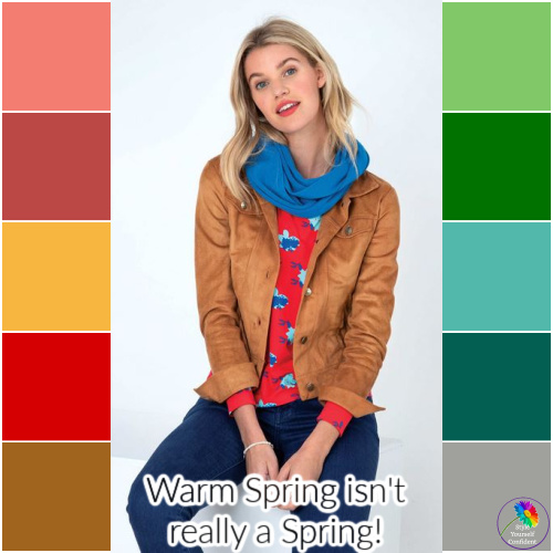 Spring is always WARM, LIGHT and BRIGHT  #Spring #Warm Spring #Color Analysis  https://www.style-yourself-confident.com/warm-spring.html